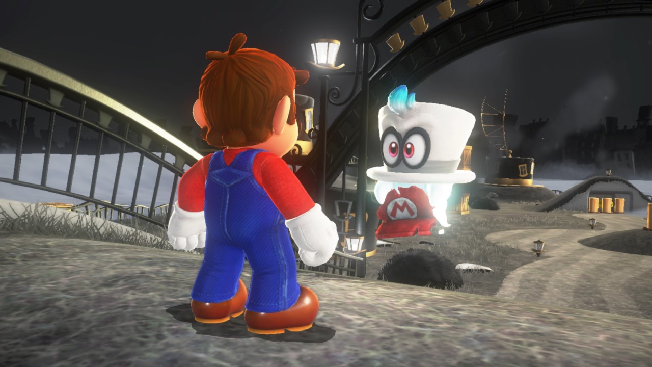 Mario and Cappy meet for the first time.